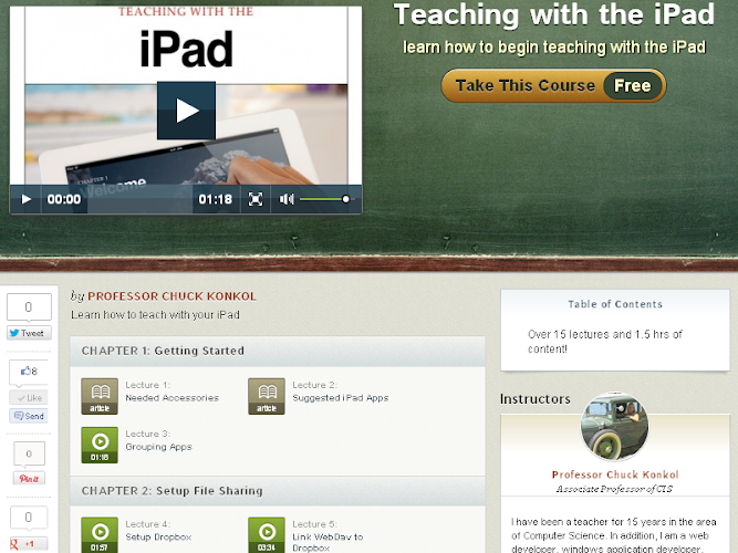Teaching with the iPad Free Course